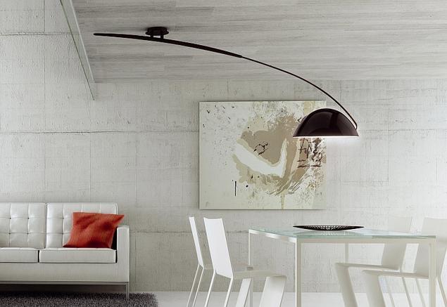 Zobacz Galerię Zdjęć Lampy Sufitowe I Beton W Salonie Z Jadalnią