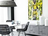 Aranżacje kuchni i jadalni w loftowym stylu. Industrialne lampy i meble