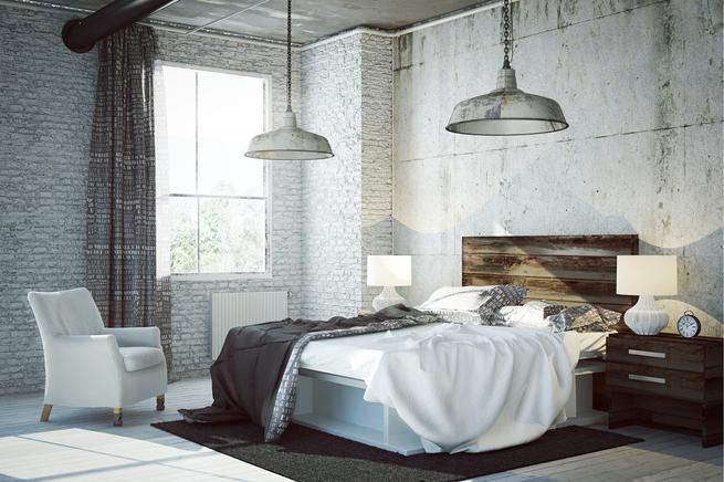 Styl minimalistyczny. Nowoczesna sypialnia