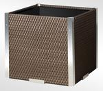 Donica technorattanowa 460x460x460 mm aluminium ciemna czekolada ANDREWEX